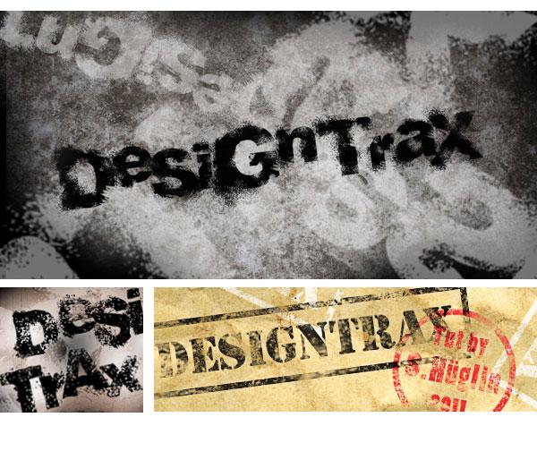 fertige Grunge-Font-Gestaltung