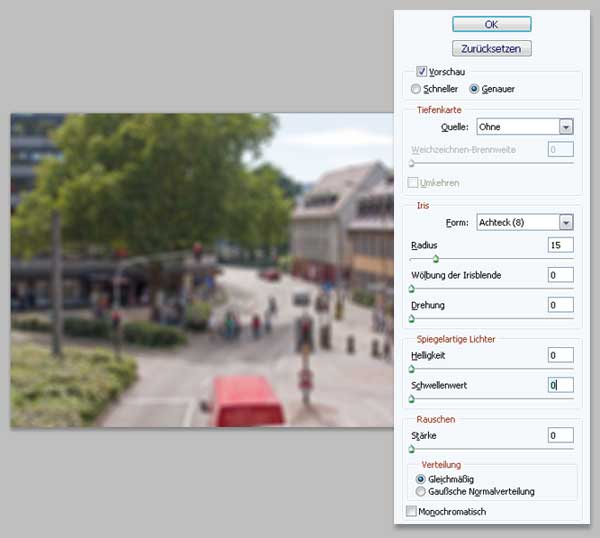 Tilt-Shift Fotos mit Photoshop simulieren 2