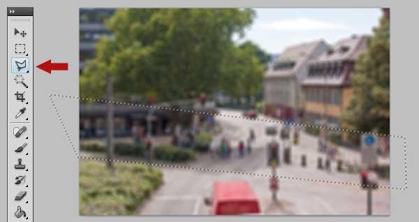 Tilt-Shift Fotos mit Photoshop simulieren 3