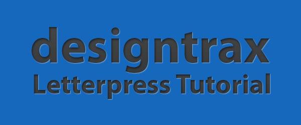 Letterpress Effekt