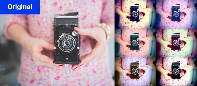 lomo effekt photoshop aktion