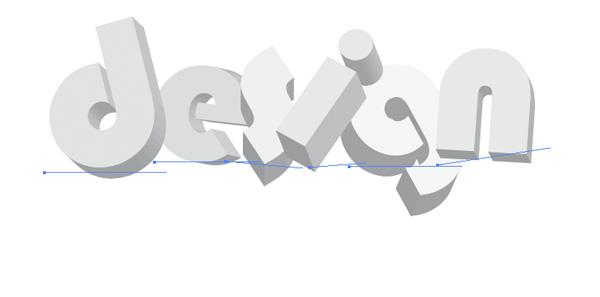 3. Kompletten Schriftzug setzen