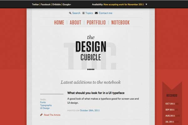 Kreative Blog Designs - The Design Cubicle