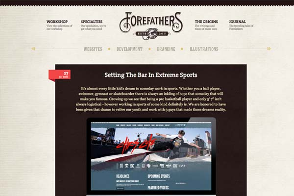Kreative Blog Designs - Forefathers