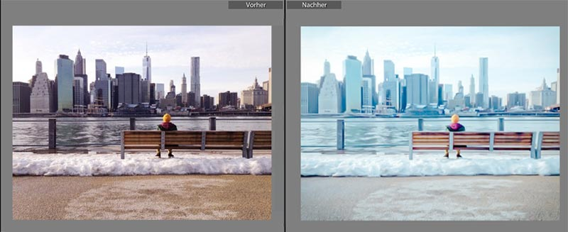 lightroom preset cold winter