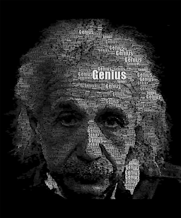 Einstein Word Portrait typo portrait