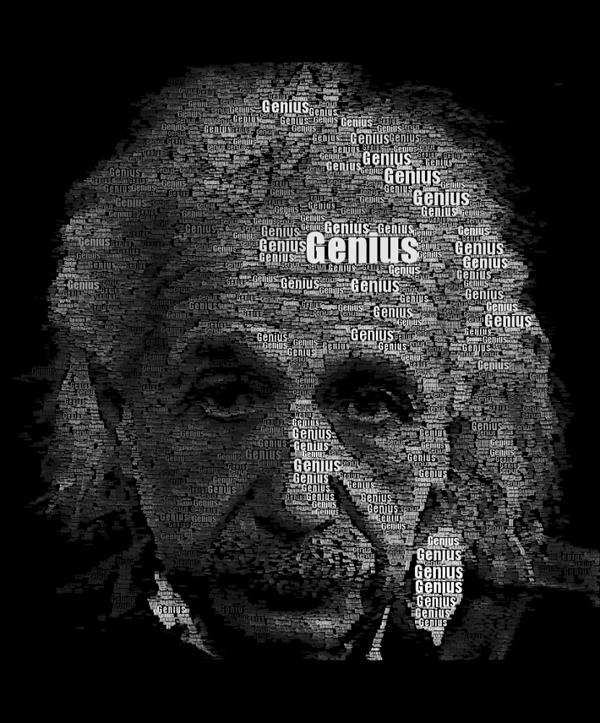 Einstein Word Portrait typo portrait