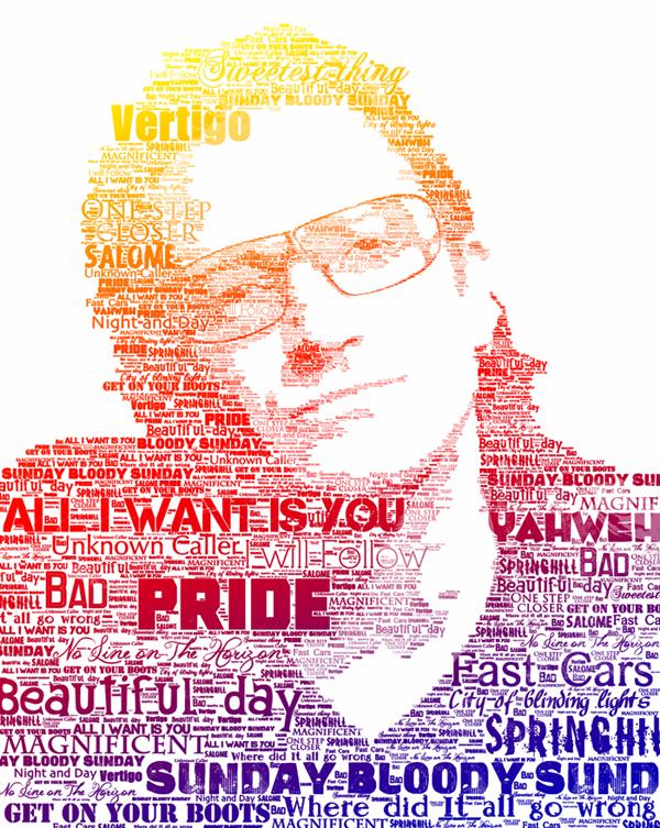 Bono typo portrait