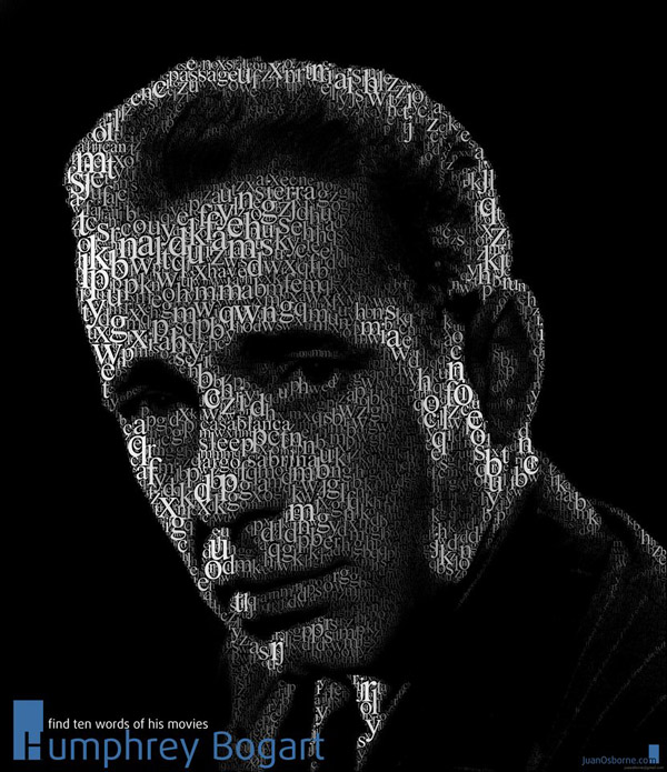 Playing with Bogart typo portrait