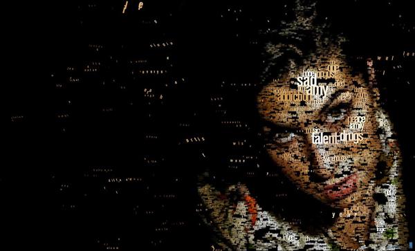 Amy Winehouse typo portrait