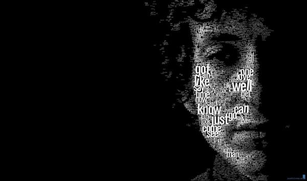 Bob Dylan typo portrait