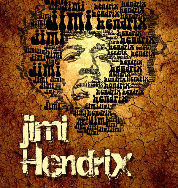 Hendrix  typo portrait
