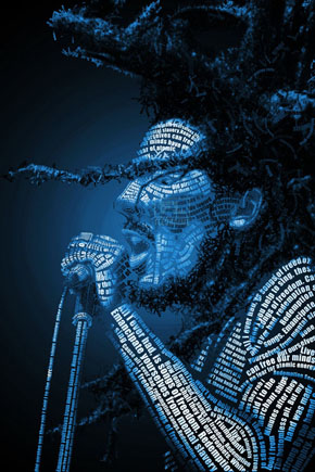 Bob Marley typo portrait