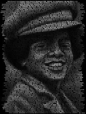 Michael Jackson typo portrait