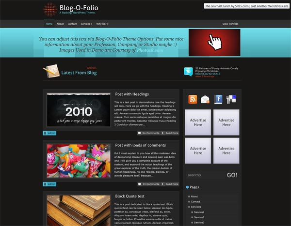 Blog-O-Folio WordPress Theme Version 1.0