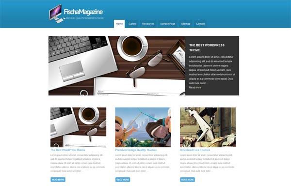 Fischa Magazine WordPress Theme