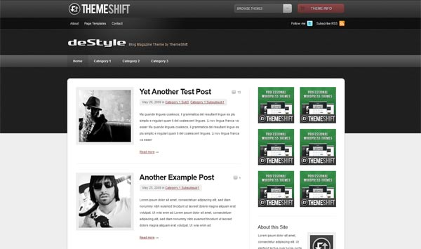 Destyle WordPress Theme