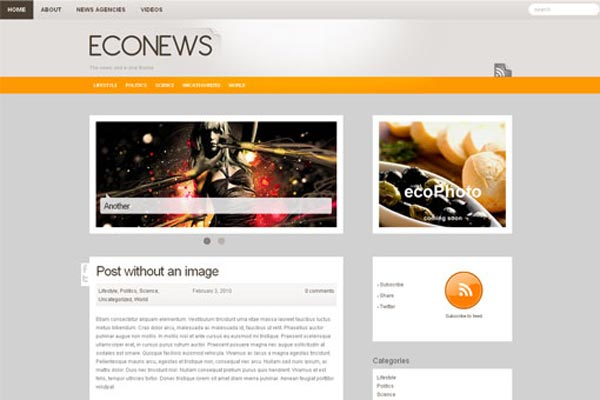 ecoNews WordPress Theme