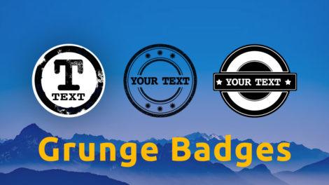 3 kostenlose Grunge Badges