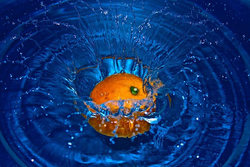 high speed orange - High-Speed Fotografie