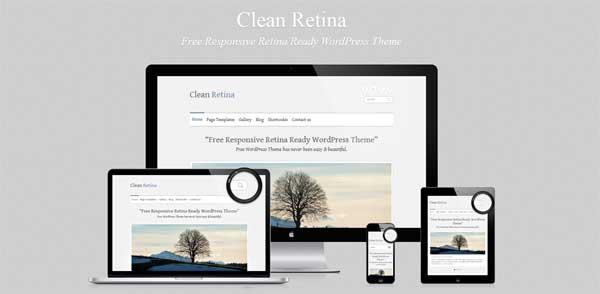Clean RetinaWordPress Theme
