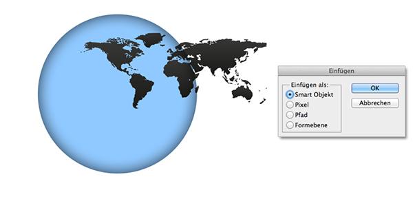 Weltkarte einfügen