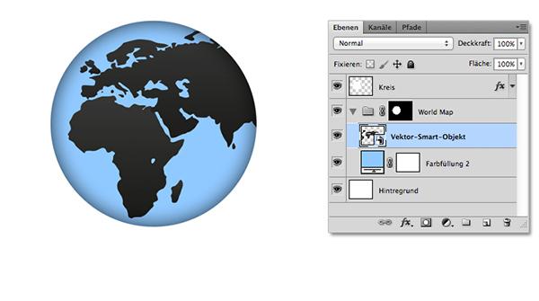 Weltkarte skalieren