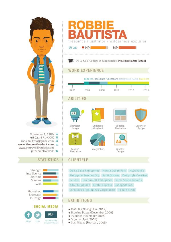 Lebenslauf als Infografik: kreative Beispiele - Designtrax