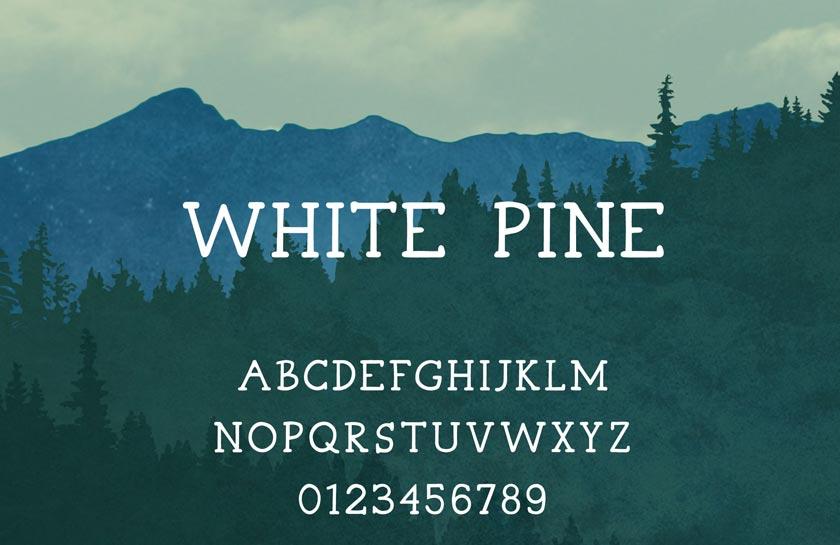 white pine kostenlose fonts