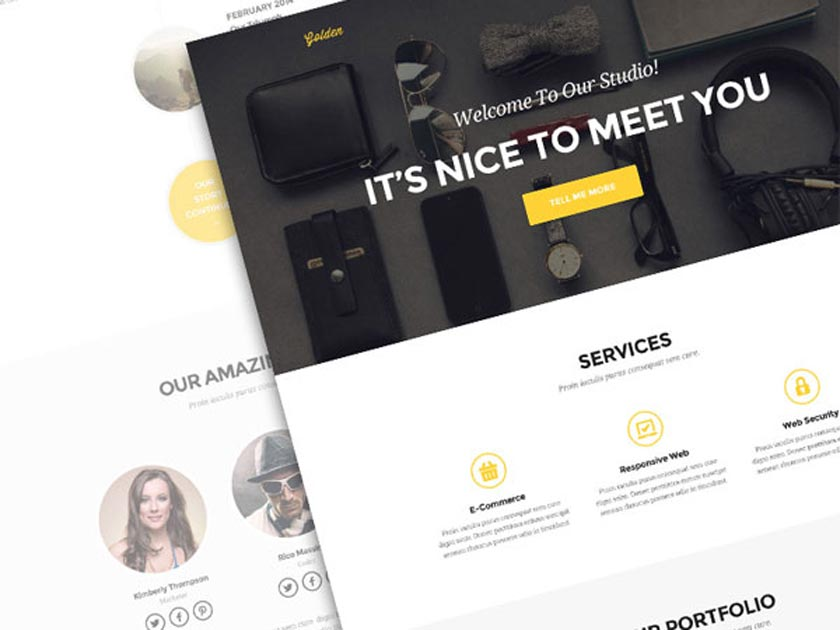 golden psd template