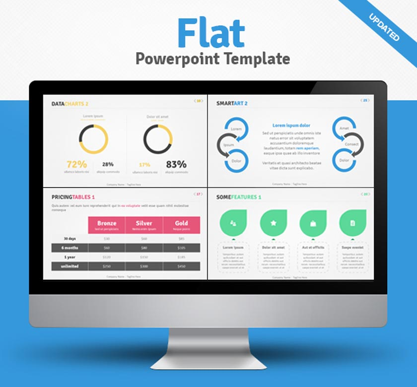 flat powerpoint template
