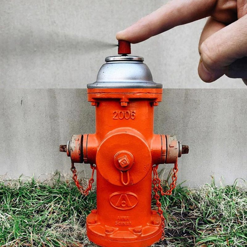 combophoto spray paint + fire hydrant