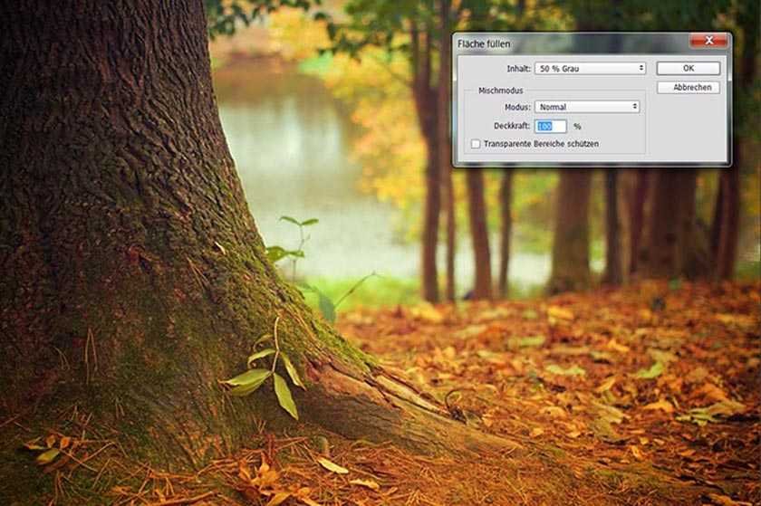 herbstbilder in photoshop optimeren