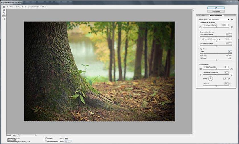 herbstfotos vignette in photoshop