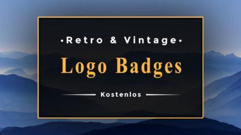 retro logo badges
