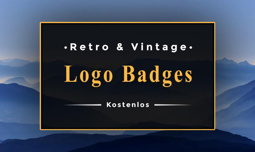 retro logo badges