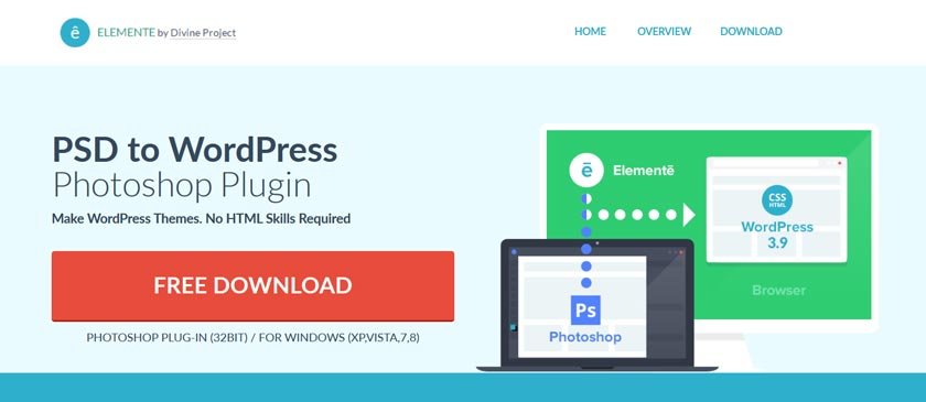psd to wordpress plugin