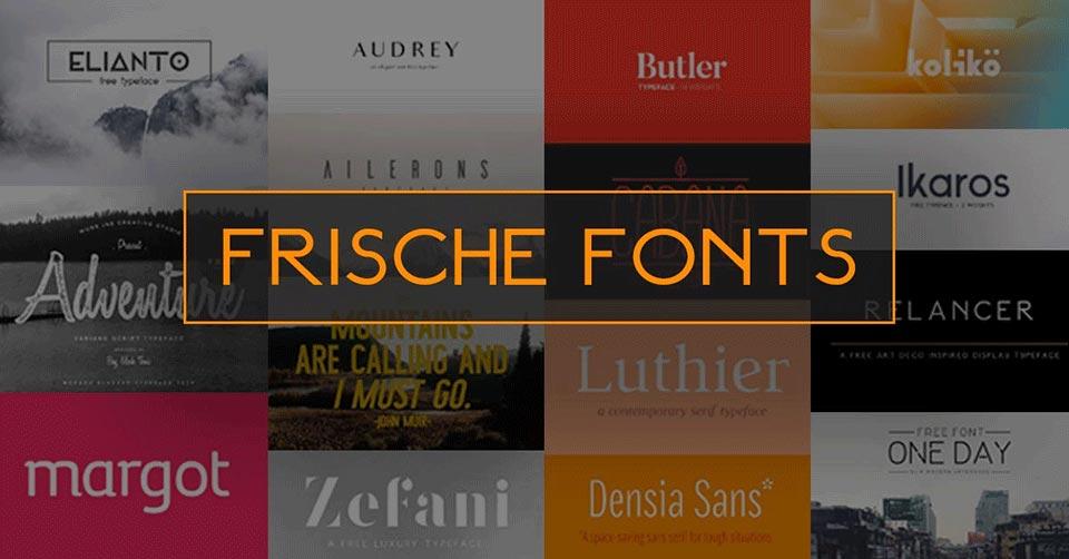 frische fonts