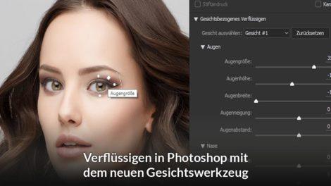 Gesichtswerkzeug in Photoshop