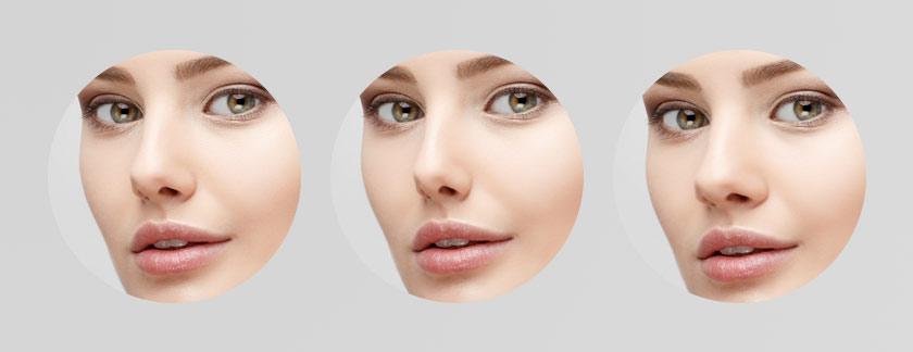 Nasenkorrektur mit Gesichtswerkzeug