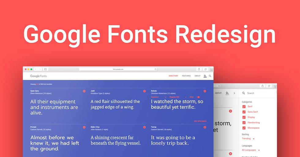 google fonts redesign