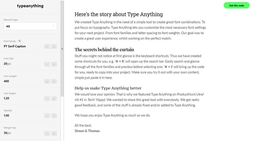 typeanything