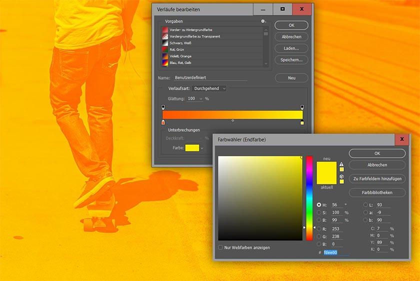 Farbe für Lichter auswählen