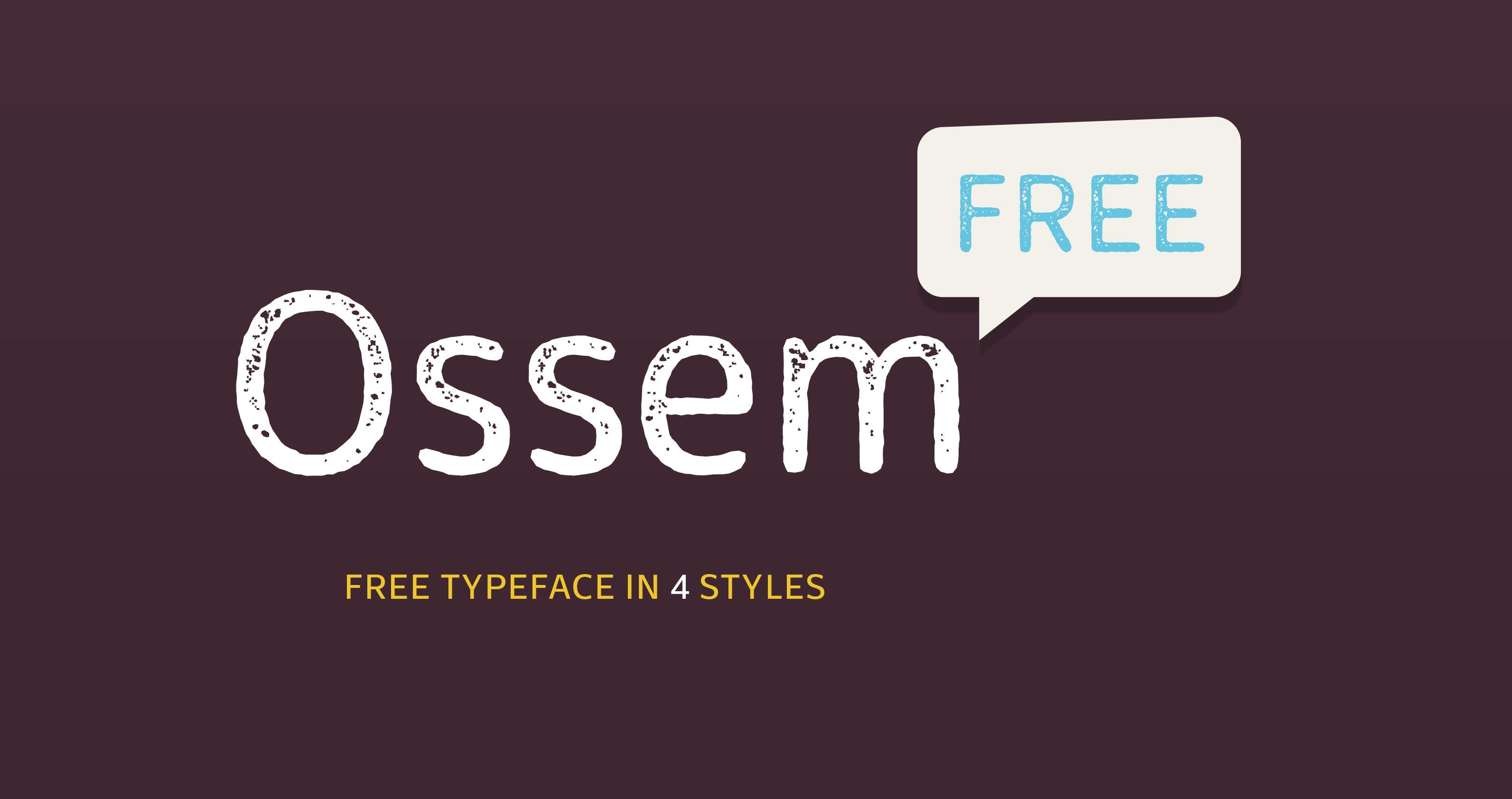 free font ossem