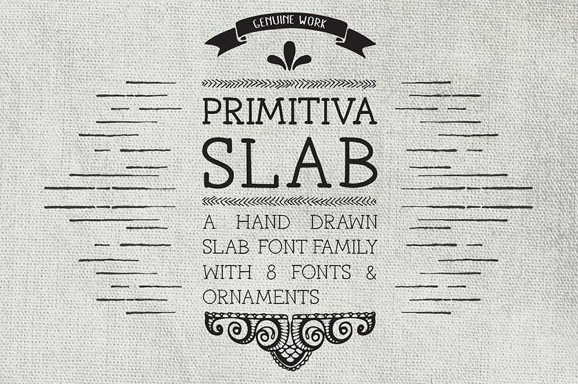 primitiva slab font