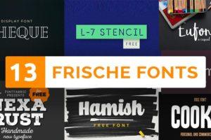 13 kostenlose fonts