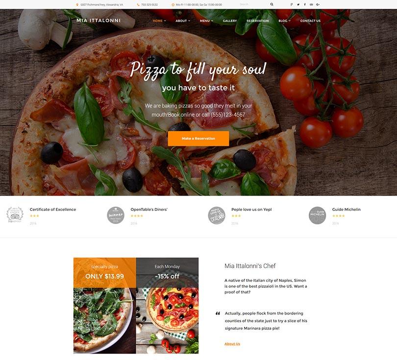 kostenlose wordpress themes restaurant theme